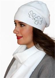 Комплект шапка и шарф ТД-403/1К ультра-белый Сиринга-стиль   2