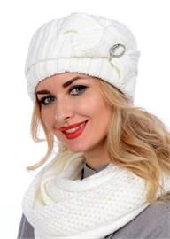Вязаная шапка-кубанка ТД-405 молочный Сиринга-стиль
