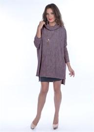 Туника трикотажная женская ВТД-01 серо-коричневая Сиринга-стиль