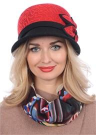Шляпа Д-432/4 красная/черная