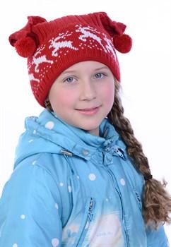 Новогодняя шапка ТД-72 красная - фото 10849