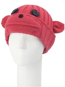 Вязаная шапка ТД-397 коралловая - фото 12193
