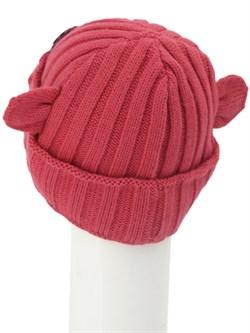 Вязаная шапка ТД-397 коралловая - фото 12194