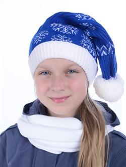 Новогодняя шапка ТД-16/2 синяя - фото 12532