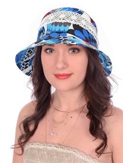 Шляпа  Л-285/1А голубой-красный-белый - фото 13263