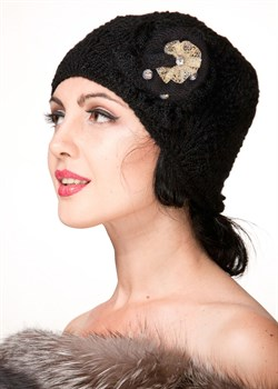 Вязаная шапка ТД-265 черная - фото 13768