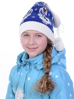 Новогодняя шапка ТД-132 синяя - фото 15431