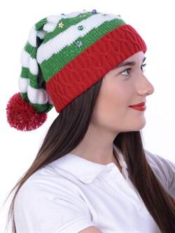 Новогодняя шапка ТД-137 мультиколор - фото 15503