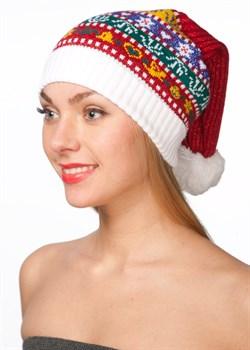 Новогодняя шапка ТД-291 мультиколор - фото 15704