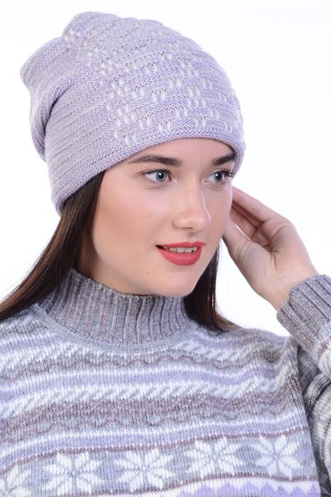 Вязаная шапка ТД-447 - фото 18417
