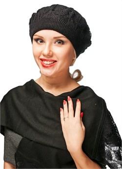 Комплект берет и шарф ТД-313 черный Сиринга-стиль