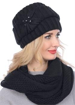 Вязаная шапка-кубанка ТД-404 черная Сиринга-стиль