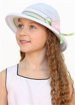 Шляпка детская летняя Дети/ТЛ36/1 белый-салатовый-розовый Сиринга-стиль