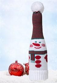 Чехол на  шампанское ТД-300 снеговик