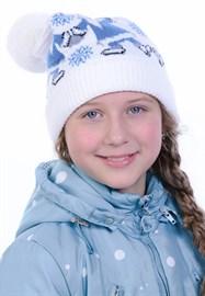 Новогодняя шапка ТД-226/2 голубая
