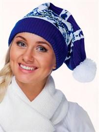 Новогодняя шапка ТД-220 синяя