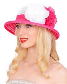 Шляпа летняя ТЛ-255/2 белый/азалия 1