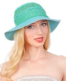 Шляпа летняя Л-211 бирюза 1