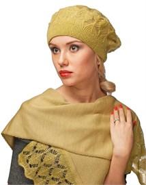 Комплект шапка и шарф ТД-313 горчица