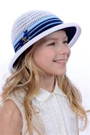 Шляпка детская летняя Дети/Л31 белый-синий