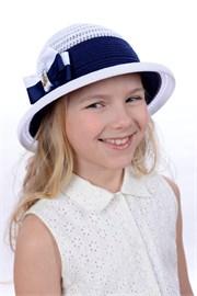 Шляпка детская летняя Дети/Л35 белый-синий