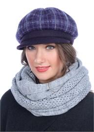 Женская трикотажная кепка Д-470/2 черника от Сиринга-стиль
