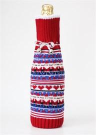 Сувенир новогодний Ч-04 чехол для шампанского Сиринга-стиль