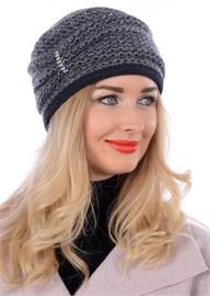 Шляпа-кубанка женская ТД-354 серая-синяя Сиринга-стиль