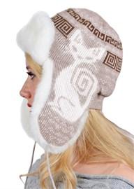 Ушанка женская З-281-9 белый-бежевый Сиринга-стиль